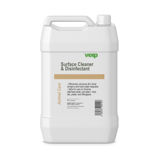 animal care surface cleaner & disinfectant 5 liter canister